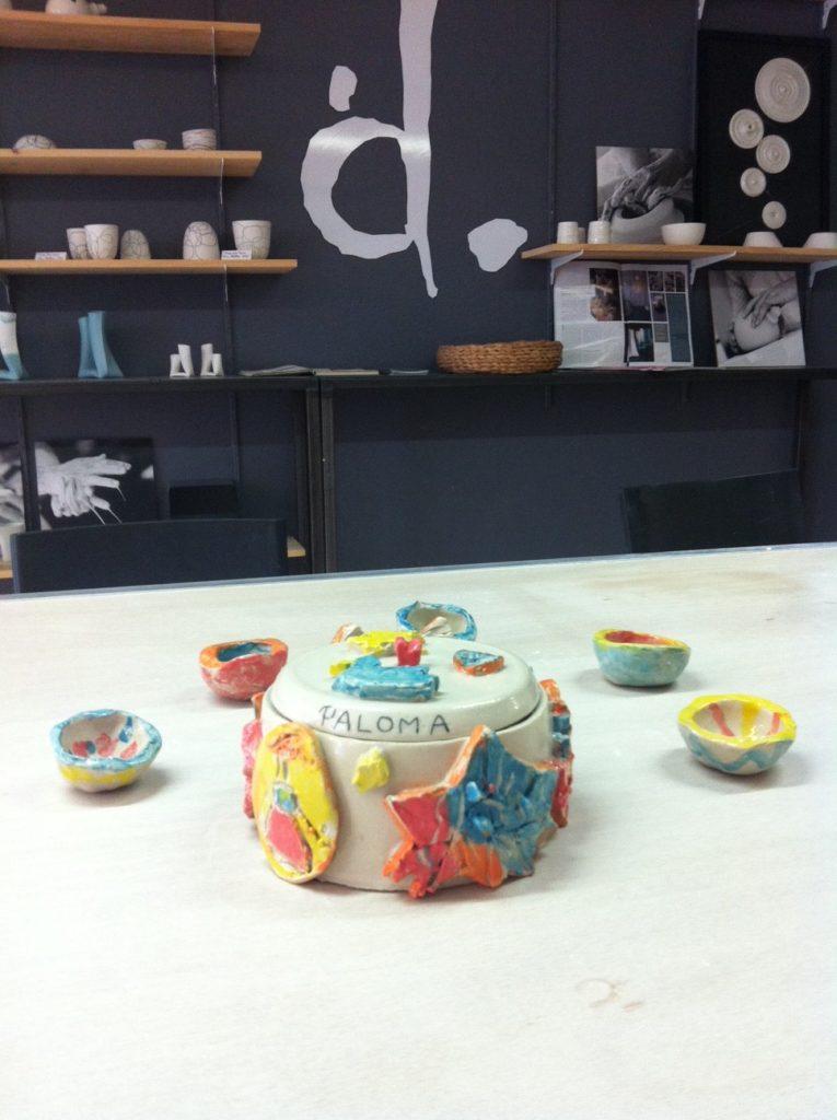 anniversaire créatif à l'atelier créations modelage enfants