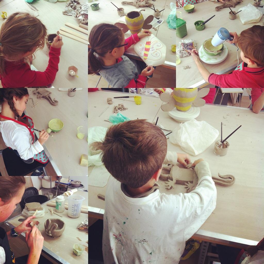 stage enfants vacances de la Toussaint 2016 Atelier Ceramics d Poitiers centre ville modelage terre Delphine Millet